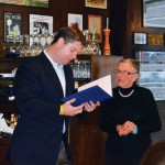 Eleanor Carpenter receives a commendation from Supervisor Mark Farrell on behalf of the Board of Supervisors photo: Leslie Drapkin