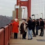 Silvestri (on left) revisits the Golden Gate Bridge in 2012 photos: courtesy of the Silvestri family