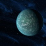 An artist's conception of Kepler-22b, a planet in the habitable zone of its star. It is the first planet that NASA's Kepler mission has confirmed to orbit in a star's habitable zone, but scientists are now finding potentially habitable planets by the dozens.    photo: NASA/Ames/JPL-Caltech