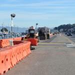 Bicycle and pedestrian path under construction along Marina Boulevard    Photo: b. mason