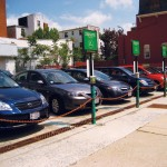 A fleet of zipcars awaiting their drivers    photo: Tvol / flickr