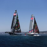 Oracle Team USA AC72 launch and first trials    photo: courtesy 2012 Guilain Grenier/Oracle Team USA