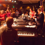 The dueling pianos draw energetic crowds at Johnny Foley's near Union Square    photo: Maryann LoRusso