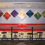 Blackbird Bar supports local artists such as Renee DeCarlo Johnson, whose work is on display through April 2    photo: Maryann LoRusso