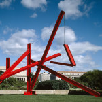 Mark di Suvero, Are Years What? (for Marianne Moore), 1967; painted steel; 480 x 480 x 360 in.; photo: Lee Stalsworth; © Mark di Suvero