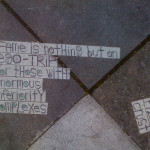Elvis Christ sidewalk poems