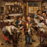 A look inside The tax collector's office, by Pieter Brueghel the Younger