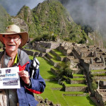 Terri Thornton and husband Jeffery Roloff brought along some good reading material for their visit to Machu Picchu    photo: courtesy terri thornton