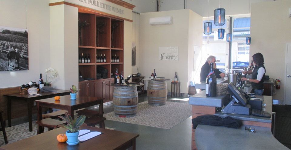 Taste La Follette wines in the tasting room at The Barlow, Photo credits: Bo Links