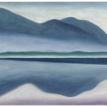 Georgia O'Keeffe, American (1887–1986), Lake George, 1922, oil on canvas, 16¼ x 22 in., SFMOMA, gift of Charlotte Mack © Georgia O'Keeffe Museum/Artists Rights Society (ARS), New York