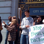 A recent rally at City Hall opposing the surge in evictions    Photo: steven rhodes / flickr