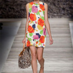 The bold flowers on Blugirl's shift dress are reminiscent of 1960s wallpaper