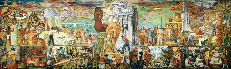 Pan American Unity, on display in the Diego Rivera Theater at San Francisco Community College, photo: Geigenot / flickr