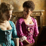 Sarah Gadon (Elizabeth) and Gugu Mbatha-Raw (Belle) star as cousins   ( photo:  © fox searchlight)