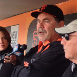 Giants Manager Brucy Bochy (photos: steve hermanos)