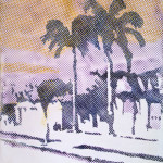 Sigmar Polke, Palmen (Palm Trees), 1968; acrylic on mattress ticking; 51-1/4 in. x 43-3/8 in.; fractional purchase and bequest of Phyllis Wattis; © 2012 Estate of Sigmar Polke/Artists Rights Society (ARS), New York/VG Bild-Kunst, Bonn, Germany