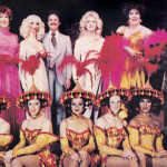 Vintage Finnochio's night club promotional postcard featuring female impersonators