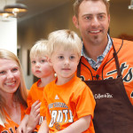 Jeremy Affeldt tends to some of his customers/fans at Peet's     Photo: tony avelar