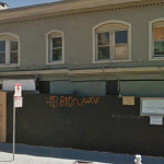 the boarded-up shell of Tryst Lounge.    © google street view