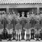 Reserve Officers of the 30th Infantry on duty at the entry of the Officers' Club, c. 1938.    photo: family of russell g. ayers