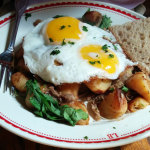 La Boulange's duck confit hash     Photo: john zipperer