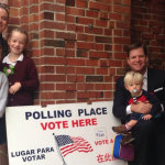 Supervisor Mark Farrell spent a busy Nov. 4 election day getting out the District 2 vote.     photo: courtesy mark farrell