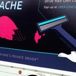 Uber's agressive anti-Lyft campaign.