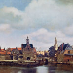 Johannes Vermeer, View of Delft, c. 1660–61. Oil on canvas, 38 x 45-½ inches.     Image credit: Royal Picture Gallery Mauritshuis, The Hague