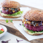 Beet burgers at Seed + Salt.   photo: courtesy Seed + salt