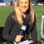 Radio/TV broadcaster and sportscaster Kate Scott.     photo: san jose earthquakes