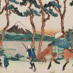 Hodogaya on the Tokaido, approx. 1830–1831, from the series Thirty-Six Views of Mount Fuji, by Katsushika Hokusai (Japanese, 1760–1849). Woodblock print; ink and color on paper. Museum of Fine Arts, Boston, William Sturgis Bigelow Collection, 11.17541.    photo: © 2015, MFA, Boston