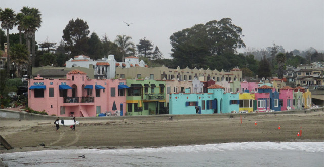 from the coast to the foothills of the santa cruz mountains capitolas cove of colorful houses