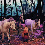 Some of the 65 horses and 45 artists of ODYSSEO, the latest show from the internationally acclaimed entertainment company Cavalia. photo: Color-ish Company