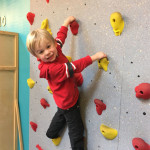 The rock-climbing wall at Play Haven is great for developing problem-solving skills. Photo: Liz Farrell