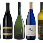 "Chappellet CheninBlanc; Handley Cellars Pinot Noir; J Vineyards & Winery ""J Cuvee 20"" Brut; La Sirena Moscato Azul; Merry Edwards Sauvignon Blanc."