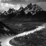The Tetons and the Snake River (1942) Grand Teton National Park, WY., by Ansel Adams. photo: National Archives and Records Administration, wikimedia commons