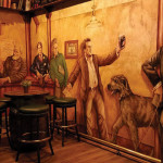 The mural of poets and playwrights on the wall at Chief Sullivan's. Photo: Rick Howard