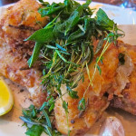 Fried chicken at Wayfare Tavern. photo: BILL KNUTSON