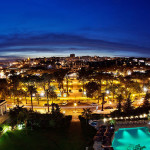 The view of Estoril and Cascais, caught at night from the Hotel Palacio (photo: Small Luxury Hotels of the World)
