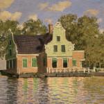Claude Monet, Houses by the Zaan at Zaandam, 1871. Oil on canvas, 47.5 x 73.5 cm (20 1/4 x 28 1/2 in). Courtesy: Städelsche Kunstinstitut und Städtische Galerie, Frankfurt