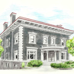 Sketch of 2698 Pacific Avenue by Jan Wignall, University High School Student. Image: courtesy San Francisco Decorator Showcase