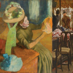 Left: Edgar Degas, The Millinery Shop, 1879–1886; right: James Tissot, The Shop Girl, 1883–1885.  Images courtesy of the Fine Arts Museums of San Francisco