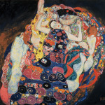 "Detail of Gustav Klimt, ""The Virgin"", 1913. Image courtesy of the Fine Arts Museums of San Francisco"