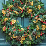 Painting the exterior of your front door and adding a wreath can add a welcoming touch to your home this holiday season.