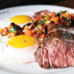Steak and eggs at the new brunch at The Saratoga. Photo: courtesy of The Saratoga
