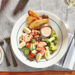 Seafood Cobb salad at the recently updated The Grotto No. 9. Photo: William Pruyn