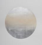 Miya Ando, Gekkou (Moonlight) November 4, 2017, Pigment, Silver Leaf, Arches Paper, 45.5 x 34.5 x 1.75 Inches Framed