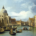 """Giovanni Antonio Canal, called Canaletto (Italian, 1697–1768), """"Entrance to the Grand Canal,"""" (detail) about 1730. Image courtesy of the Fine Arts Museums of San Francisco"""