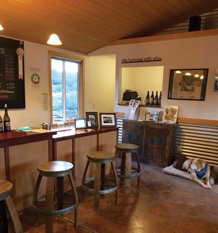 The charming tasting room at Lula Cellars. Photo: Susan Dyer Reynolds