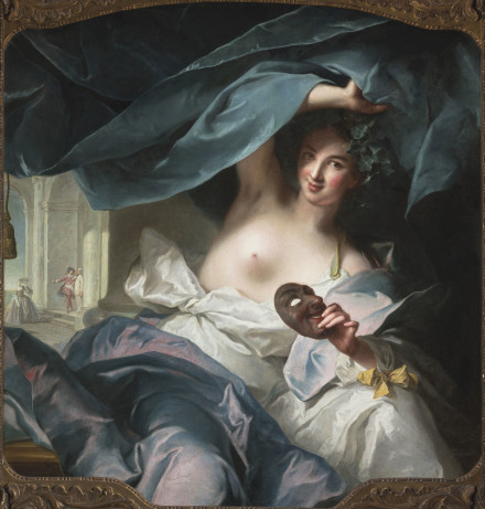 "Jean-Marc Nattier (French, 1685–1766), ""Thalia, Muse of Comedy,"" 1739. Image courtesy of the Fine Arts Museums of San Francisco"